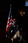 Flag Girl during second round of the Fort Worth Stockyards Pro Rodeo event in Fort Worth, TX - 8.3.2019 Photo by Christopher Thompson
