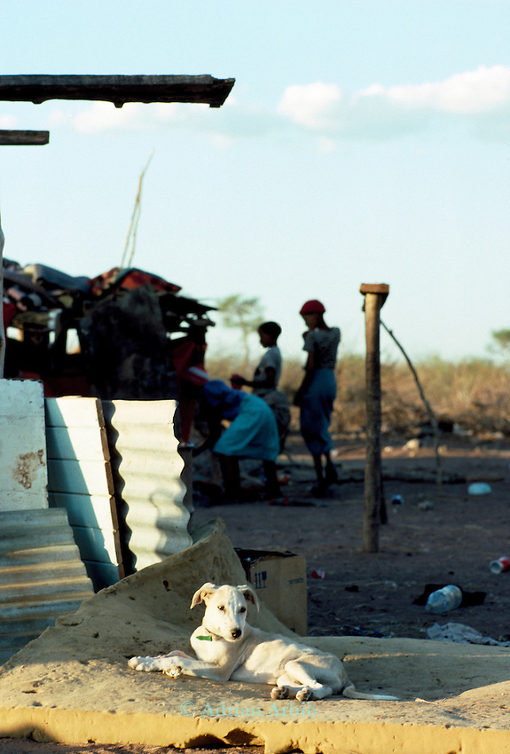 Tchumkwe, Bushman land, Namibia