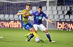 2018-08-10 / Voetbal / Seizoen 2018-2019 / KFCO Beerschot-Wilrijk - KVC Westerlo / Jens Naessens (l. Wes) met Pierre Bourdin<br /> <br /> ,Foto: Mpics