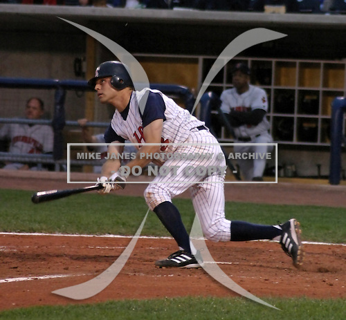 August 31, 2003:  Third Baseman Brant Ust of the Toledo Mudhens during a game at Fifth Third Field in Toledo, Ohio.  Photo by:  Mike Janes/Four Seam Images