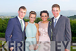 BALL: Enjoying the fun at the ISK debs at the Ballyroe Heights hotel, Tralee on Thursday l-r: John O'Shea, Oonagh Glesson, Aoife Johnston and Daniel Macbeth.