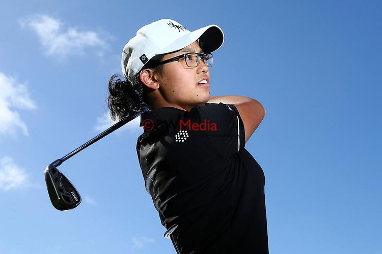 Julianne Alvarez. Espirito Santo Team Photoshoot, Royal Auckland Golf Course, Manukau, Auckland, Friday 8 August 2014. Photo: Simon Watts/www.bwmedia.co.nz <br /> All images &copy; NZ Golf and BWMedia.co.nz