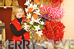 Christina Hickey working.on some of her fantastic.flower arrangements.   Copyright Kerry's Eye 2008