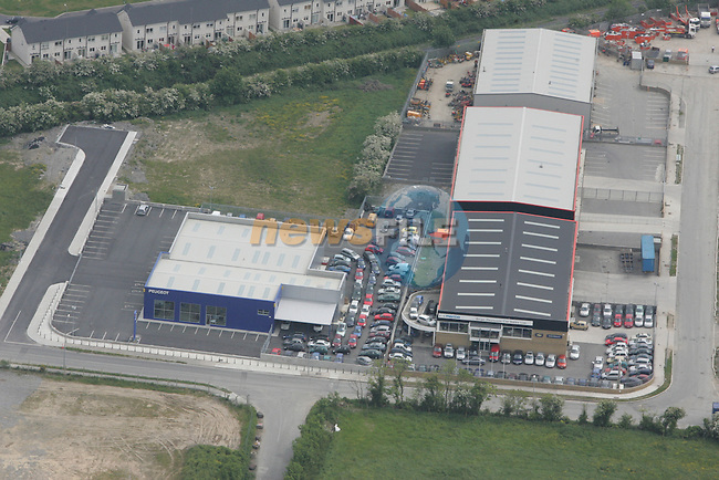 Aerial view of Peugeot, Holcroft Motors Ltd. Mathews Lane, Donore Road, Drogheda. 04/06/06...Photo NEWSFILE/Fran Caffrey.(Photo credit should read Fran Caffrey/NEWSFILE)....This Picture has been sent you under the condtions enclosed by:.Newsfile Ltd..The Studio,.Millmount Abbey,.Drogheda,.Co Meath..Ireland..Tel: +353(0)41-9871240.Fax: +353(0)41-9871260.GSM: +353(0)86-2500958.email: pictures@newsfile.ie.www.newsfile.ie.FTP: 193.120.102.198...This picture is from Fran Caffrey@newsfile.ie