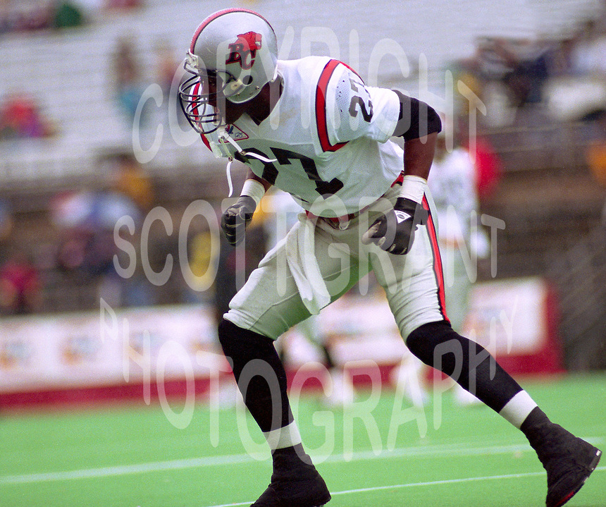 Donovan Wright BC Lions 1992. Photo John Bradley