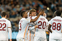 Melbourne, 21 July 2015 - Adem Ljajić of AS Roma celebrates his goal in game two of the International Champions Cup match at the Melbourne Cricket Ground, Australia. City def Roma 5-4 in Penalties. (Photo Sydney Low / AsteriskImages.com)