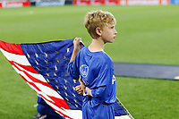 St. Paul, MN - Tuesday June 18, 2019: Flag holder of the United States during a 2019 CONCACAF Gold Cup group D match between the United States and Guyana on June 18, 2019 at Allianz Field in Saint Paul, Minnesota.