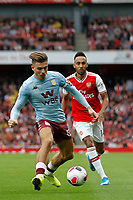 Jack Grealish of Aston Villa dribbling during the Premier League match between Arsenal and Aston Villa at the Emirates Stadium, London, England on 22 September 2019. Photo by Carlton Myrie / PRiME Media Images.
