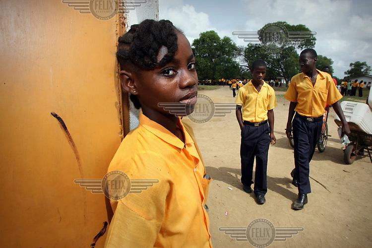 School children at the Maggie Lampkins school in Monrovia.