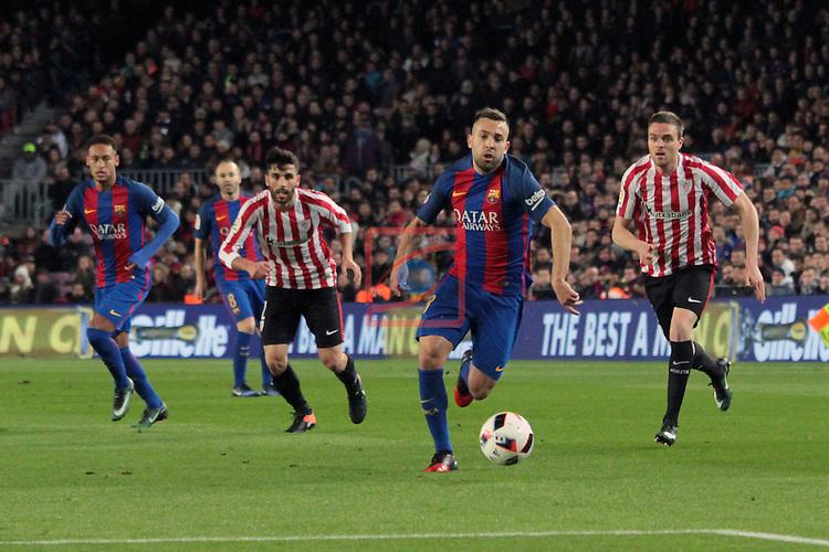 Copa del Rey 2016/2017 - 1/8 final vuelta.<br /> FC Barcelona vs Athletic Club: 3-1.<br /> Boveda, Jordi Alba &amp; Eraso.