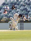 November 4th 2017, WACA Ground, Perth Australia; International cricket tour, Western Australia versus England, day 1; England player James Vince ducks under ball