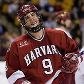 Jimmy Fraser (Harvard University - Port Huron, MI) - The Boston College Eagles defeated the Harvard University Crimson 3-1 in the first round of the 2007 Beanpot Tournament on Monday, February 5, 2007, at the TD Banknorth Garden in Boston, Massachusetts.  The first Beanpot Tournament was played in December 1952 with the scheduling moved to the first two Mondays of February in its sixth year.  The tournament is played between Boston College, Boston University, Harvard University and Northeastern University with the first round matchups alternating each year.