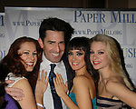 After Party Opening Night of Boeing-Boeing starring One Life To Live Matt Walton (Benard) poses with Heather Parcells, Brynn O'Malley & Anne Horak  on January 22, 2012 at the Paper Mill Playhouse, Millburn, New Jersey. (Photo by Sue Coflin/Max Photos)