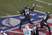 quarterback Sam Darnold (14) of the New York Jets - 08.12.2019: New York Jets vs. Miami Dolphins, MetLife Stadium New York
