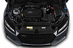 Car stock 2019 Audi TT-Coupe Base 2 Door Coupe engine high angle detail view
