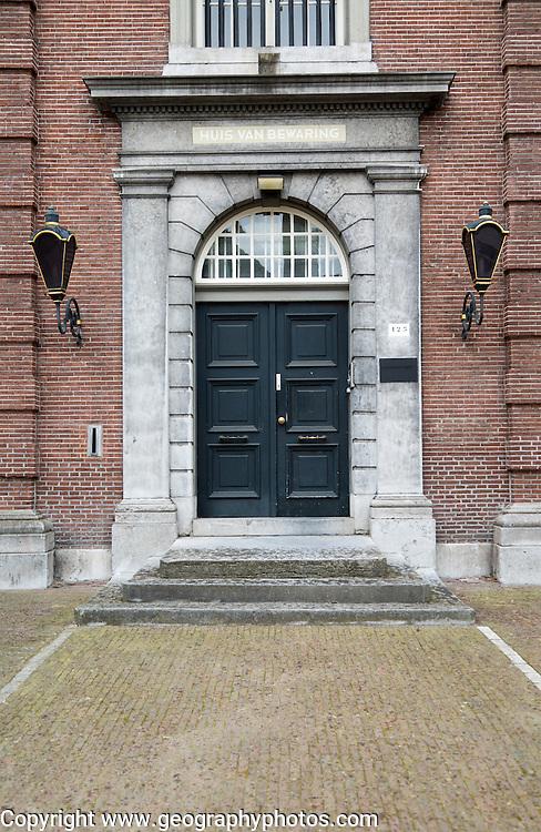 Austere doorway house of correction remand centre, 's-Hertogenbosch, Den Bosch, North Brabant province, Netherlands