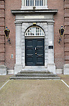 Austere doorway house of correction remand centre, 's-Hertogenbosch, Den Bosch, North Brabant province, Netherlands