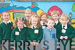 Bright brand new day for the new students of Scartaglin NS on Monday l-r: Shania Ryan, Rachel O'Sullivan, Olga O'Sullivan, Lisa Mary Browne, Dayna Horan, Micheal O'Mahony, Darragh Buckley and Leah Boyle.