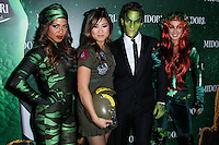 WEST HOLLYWOOD, CA - OCTOBER 29: Christina Milian, Jenna Ushkowitz, George Kotsiopoulos, Shenae Grimes at 3rd Annual Midori Green Halloween Party held at Bootsy Bellows on October 29, 2013 in West Hollywood, California. (Photo by Xavier Collin/Celebrity Monitor)