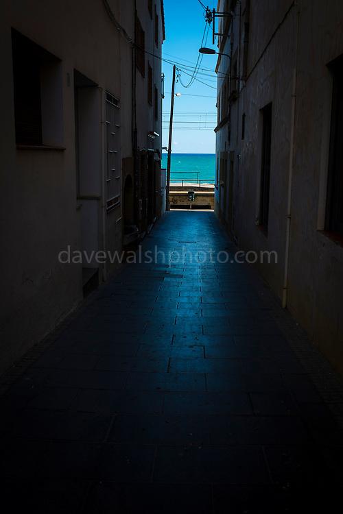 Passatge del Mar. Pathway to the Mediterranean. Sant Pol de Mar, Catalonia
