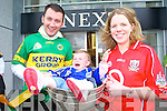 Pictured are.Michael Jasinski.and Mai Hourihane.in their.county jersey's.with Kelly Fitzgerald.and the Sam.Maguire .
