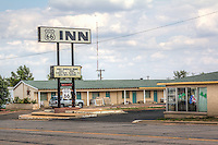 The Route 66 Inn on Route 66 in shamrock Texas.