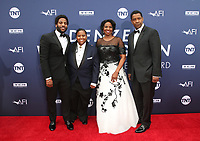 6 June 2019 - Hollywood, California - Malcolm Washington, Katia Washington, Pauletta Washington, Denzel Washington. The American Film Institute's 47th Life Achievement Award Gala Tribute To Denzel Washington  held at Dolby Theatre.    <br /> CAP/ADM/FS<br /> ©FS/ADM/Capital Pictures