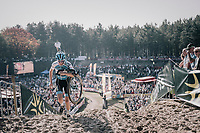 Michael Vanthourenhout (BEL/Marlux-Napoleon Games) climbing out of the infamous Zonhoven 'Kuil' (or 'Pit')<br /> <br /> Elite Men's Race<br /> CX Super Prestige Zonhoven 2017