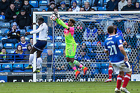 Goalkeeper Jamal Blackman (on loan from Chelsea) of Wycombe Wanderers during the FA Cup 1st round match between Portsmouth and Wycombe Wanderers at Fratton Park, Portsmouth, England on the 5th November 2016. Photo by Liam McAvoy.