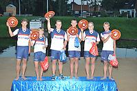 FIERLJEPPEN: IJLST: 23-08-2016, 2e-klasse fierljepwedstrijd, klassementswinnaars, ©foto Martin de Jong
