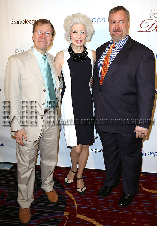 Roger T. Danforth, Jano Herbosch, Gabriel Shanks attending the 79th Annual Drama League Awards at the Marriott Marquis Times Square in New York City on May 17, 2013.