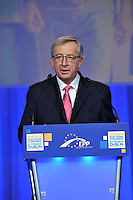 Jean Paul Juncker pictured after his election as the EPP candidate in Dublin on Friday.<br /> Picture by Don MacMonagle<br /> <br /> Photo issued by EPPgroup<br /> Further information: fiona.kearns@europarl.europa.eu