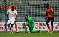Pictured: Craig Ross of Barnet (C) grabs the ball. Wednesday 12 July 2017<br /> Re: Pre-season friendly, Barnet v Swansea City FC at The Hive, London, UK