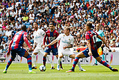 9th September 2017, Santiago Bernabeu, Madrid, Spain; La Liga football, Real Madrid versus Levante; Toni Kroos (8) of Real Madrid, Jefferson Lerma (8) of Levante and Erick Cabaco (17) of Levante