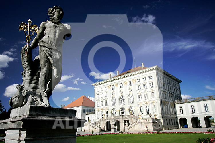 View of a sculpture at Nymphenburg palace in Munich, Germany, August 04, 2008. (ALTERPHOTOS/Alvaro Hernandez)