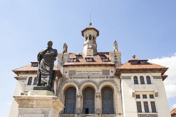 Statue of Ovid and National History and Archaeology Museum, Ovidiu Square, Constanta, Romania   June 2015<br /> CAP/MEL<br /> &copy;MEL/Capital Pictures /MediaPunch ***NORTH AND SOUTH AMERICA ONLY***