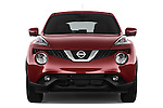 Car photography straight front view of a 2017 Nissan JUKE SV 5 Door SUV Front View
