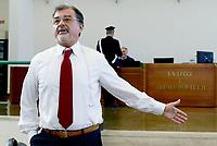 Roma, 20 Ottobre 2017<br /> L'avvocato Fabio Anselmo<br /> Aula Bunker di Rebibbia<br /> Seconda udienza udienza del nuovo processo per la morte di Stefano Cucchi che vede imputati 5 Carabinieri.<br /> Il nuovo processo è stato rinviato al 16  Novembre  alla Prima Corte D'Assise dopo che la presidente della Terza Corte d'Assise si è astenuta per incompatibilità, visto che era stata già giudice del primo processo per la morte del giovane.