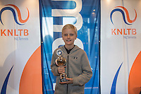 Hilversum, Netherlands, December 4, 2016, Winter Youth Circuit Masters, 3 th place boys 12 years Niels Roemelink   <br /> Photo: Tennisimages/Henk Koster