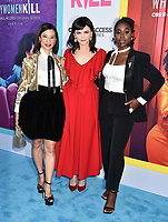 """BEVERLY HILLS, CA - AUGUST 07: (L-R) Lucy Liu, Ginnifer Goodwin and Kirby Howell-Baptiste attend the LA Premiere of CBS All Access' """"Why Women Kill"""" at Wallis Annenberg Center for the Performing Arts on August 07, 2019 in Beverly Hills, California.<br /> CAP/ROT<br /> ©ROT/Capital Pictures"""