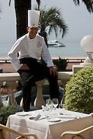 EEurope/France/Provence-Alpes-Côte d'Azur/06/Alpes-Maritimes/Cannes: Laurent Bunel chef  restaurant de l' Hotel Carlton: Carlton Restaurant   [Non destiné à un usage publicitaire - Not intended for an advertising use]