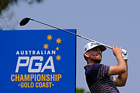 Blake Windred (AUS) on the 3rd tee during round 3 of the Australian PGA Championship at  RACV Royal Pines Resort, Gold Coast, Queensland, Australia. 21/12/2019.<br /> Picture TJ Caffrey / Golffile.ie<br /> <br /> All photo usage must carry mandatory copyright credit (© Golffile | TJ Caffrey)