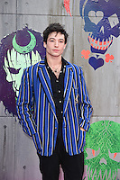 "Ezra Miller<br /> arrives for the ""Suicide Squad"" premiere at the Odeon Leicester Square, London.<br /> <br /> <br /> ©Ash Knotek  D3142  03/08/2016"