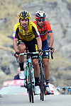 Primoz Roglic (SLO) Team Jumbo-Visma and Vincenzo Nibali (ITA) Bahrain cross the finish line 7th and 8th at the end of Stage 13 of the 2019 Giro d'Italia, running 196km from Pinerolo to Ceresole Reale (Lago Serrù), Italy. 24th May 2019<br /> Picture: Gian Mattia D'Alberto/LaPresse | Cyclefile<br /> <br /> All photos usage must carry mandatory copyright credit (© Cyclefile | FGian Mattia D'Alberto/LaPresse)