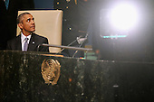 United States President Barack Obama sits down after addressing the 70th annual United Nations General Assembly at the UN headquarters September 28, 2015 in New York City. Obama will hold bilateral meetings with Indian Prime Minister Narendra Modi and Russian President Vladimir Putin later in the day. <br /> Credit: Chip Somodevilla / Pool via CNP