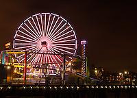 The Santa Monica Pier at Night