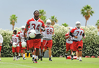 May 20, 2009; Tempe, AZ, USA; Arizona Cardinals running back (34) Tim Hightower during organized team activities at the Cardinals practice facility. Mandatory Credit: Mark J. Rebilas-