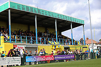 A good crowd is seen in the main stand for the first game of the season during Haringey Borough vs Corinthian Casuals, BetVictor League Premier Division Football at Coles Park Stadium on 10th August 2019