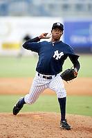 GCL Yankees Melvin Mercedes #48 during a Gulf Coast League game against the GCL Phillies at Legends Field on July 17, 2012 in Tampa, Florida.  GCL Phillies defeated the GCL Yankees 4-2.  (Mike Janes/Four Seam Images)