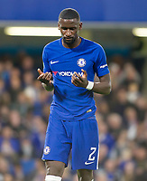 Antonio Rudiger of Chelsea in action, Carabao Cup, Third Round, Chelsea v Nottingham Forrest, Stamford Bridge, London, United Kingdom, 20th  September 2017